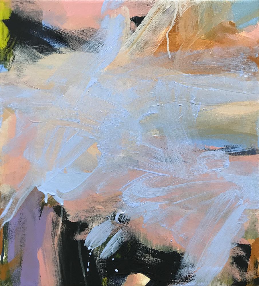 Ruth le Cheminant Covid19 Painting 20 2020 acrylic on canvas 51cm x 46cm