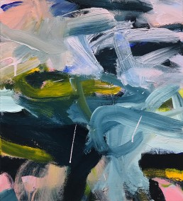 Ruth le Cheminant Covid19 Painting 21 2020 acrylic on canvas 51cm x 46cm